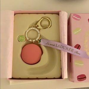 Laduree single macaroon pink keychain